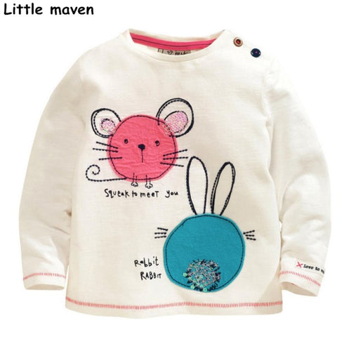 Little maven children brand baby girl clothes cotton long sleeve - Bunny Lovers