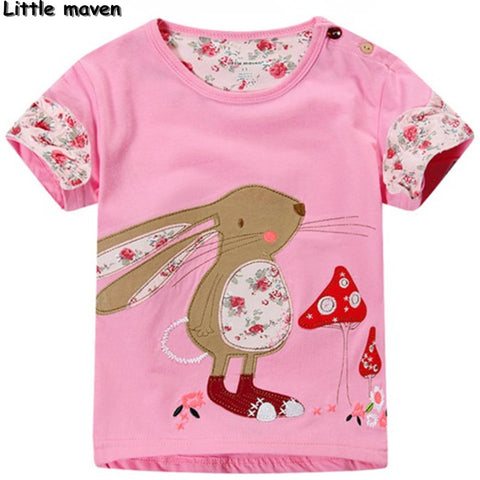 Little maven kids brand clothing bunny pink t shirt - Bunny Lovers