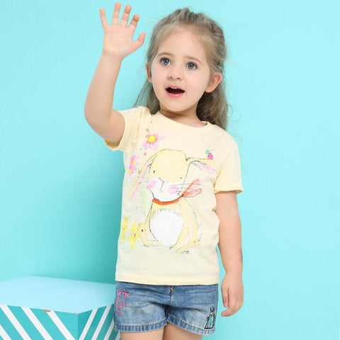 Little maven kids brand clothes bunny print t shirt - Bunny Lovers
