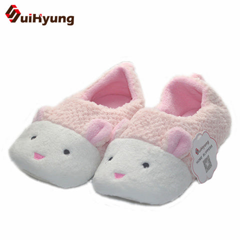 Cute Bunny Shape Plush Thick Floor Slippers - Bunny Lovers