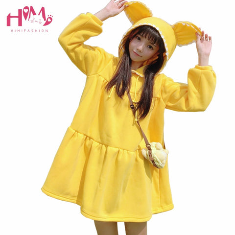 Fashion Style Sweet Lace Women Rabbit Hoodies Dress - Bunny Lovers