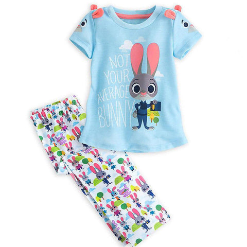 Girls 2 Pcs Summer Outfits - Bunny Lovers
