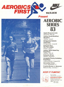 We run and we ski, and we put on events- the '82, '83 and '84 Aerobic Run Series, the AF Triathlon, the Terry Fox Run… we try selling bicycles, tennis racquets, surfboards, in addition to our Footwear and Ski business. We even manage to manufacture running suits (a desired vintage item in these parts today) on the second floor of our newly-purchased building. We are young, brave, and determined!
