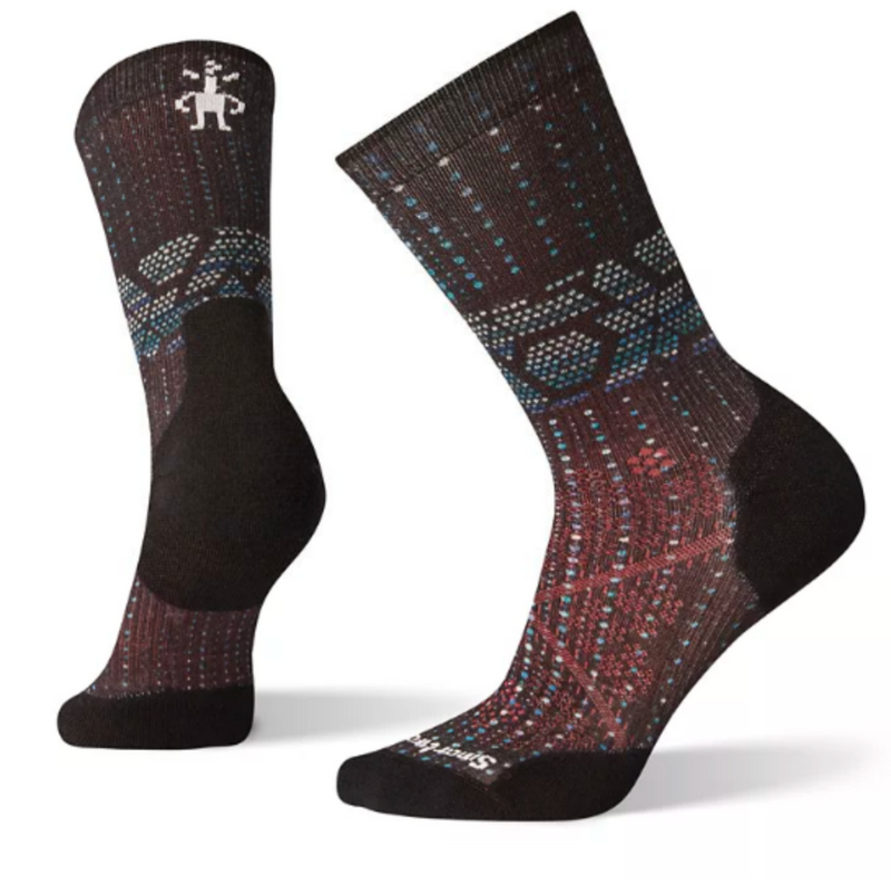 Smartwool Women's PhD Run Light Elite Print Crew Socks