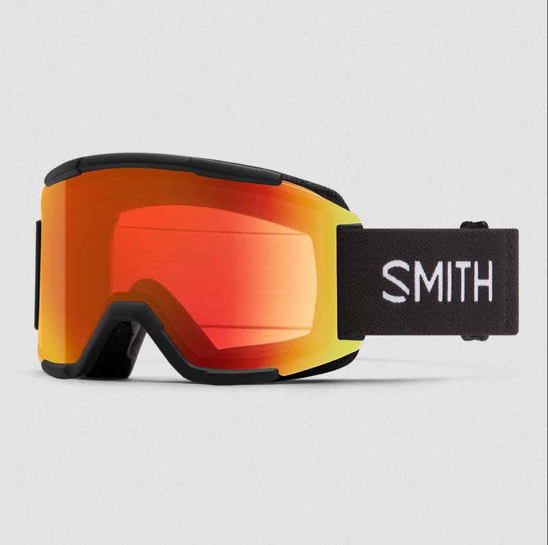 Smith Squad Goggles (Black w/ ChromaPop Everyday Red Mirror)