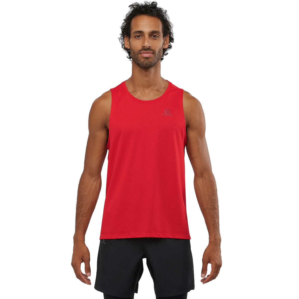 Salomon Men's Agile Tank - Goji Berry