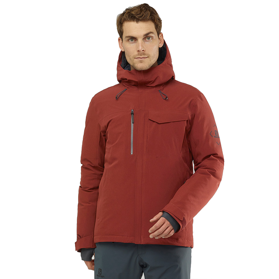 Salomon Men's Arctic Down Jacket - Madder Brown