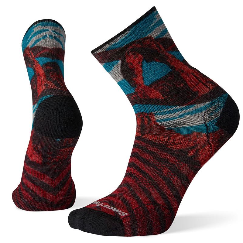 Smartwool Men's  PhD® Outdoor Light Arches Print Mid Crew Socks