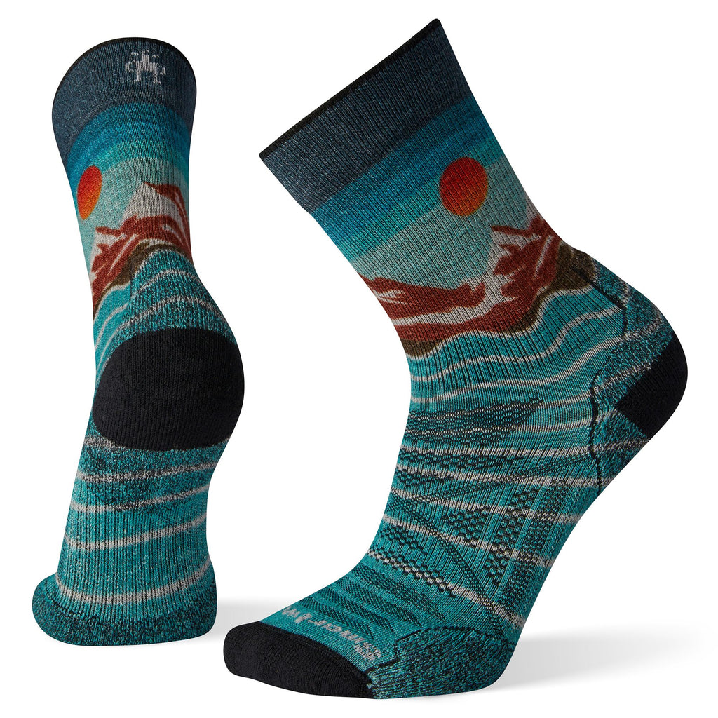 Smartwool Men's PhD® Outdoor Light Front Range Print Crew Socks