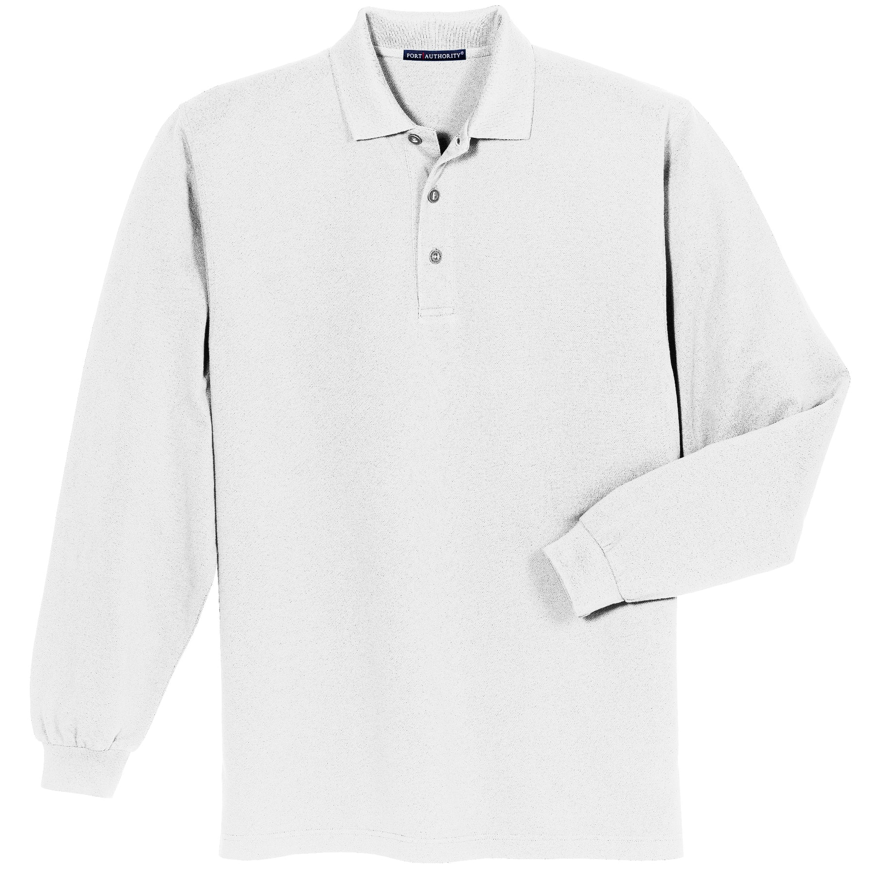1ad3fc507652 Men s Long Sleeve Heavyweight Cotton Pique Polo – The Stitching Loft