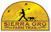 Sierra Oro Farm trail image logo, come visit chestnut orchard, tour chestnut orchard trees, buy fresh chestnuts, taste roasted chestnuts