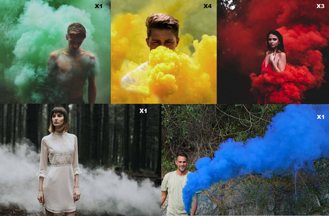 pull string smoke grenade - colored smoke bombs