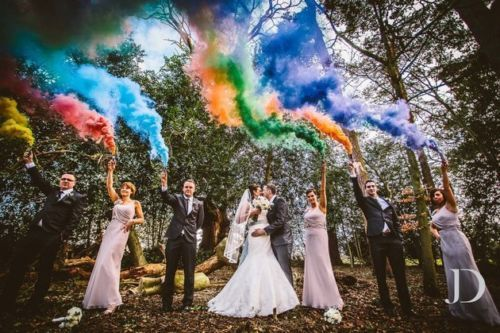 colored smoke bombs