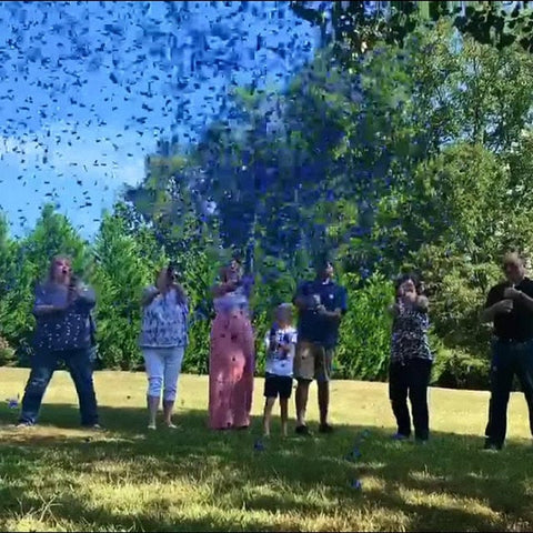 utah gender reveal confetti cannons