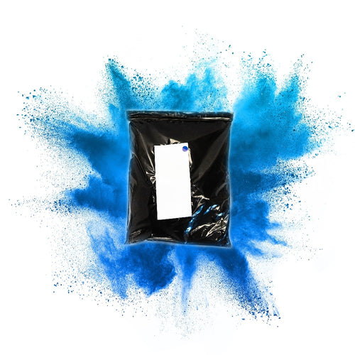 blue gender reveal burnout bag