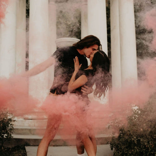 pink gender reveal smoke bomb 6 pack
