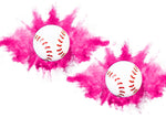 Gender Reveal Baseballs [2 Pack] Choose Colors