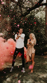 pink gender reveal confetti