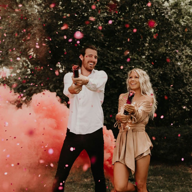 Biodegradable Gender Reveal Confetti Cannons