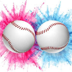 gender reveal exploding baseballs pink blue powder
