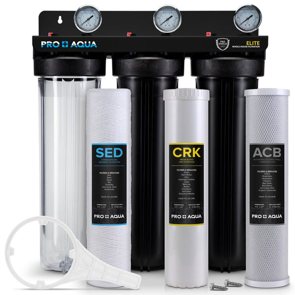 Pro+aqua pro-100-e, whole house water filter, 3 stage water filter