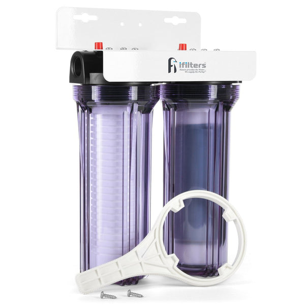 ifilters whole house water filter, dual stage water filter, hydroponics water filter