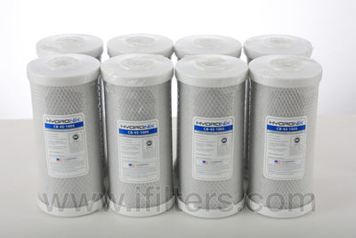"8 pc Big Blue 5m CB-45-1005 Whole House Carbon Block Water Filter CTO 4.5"" x 10"""