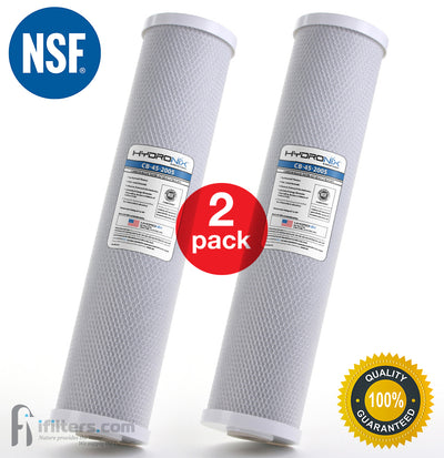 2Pk Whole House CTO Coconut Carbon Block Water Filter 5 micron Big Blue Size 20""