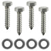 5/16 x 1.25 Stainless Steel Lag Screws and Washers, 4 Pack