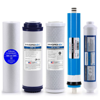 Reverse Osmosis Replacement Filter Set RO Cartridges 5 pcs w/ 75 GPD Membrane