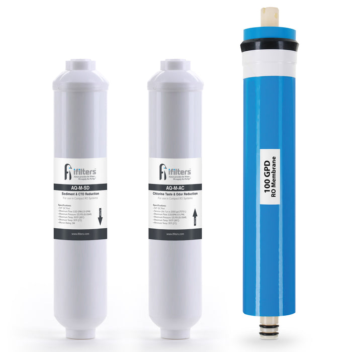Reverse Osmosis Aquarium Replacement Filter Set For Compact RO Systems