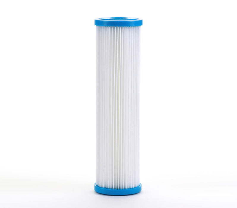 Whole House Sediment Pleated Water Filter, Washable & Reusable 5 Micron 2.5 x 10 - iFilters
