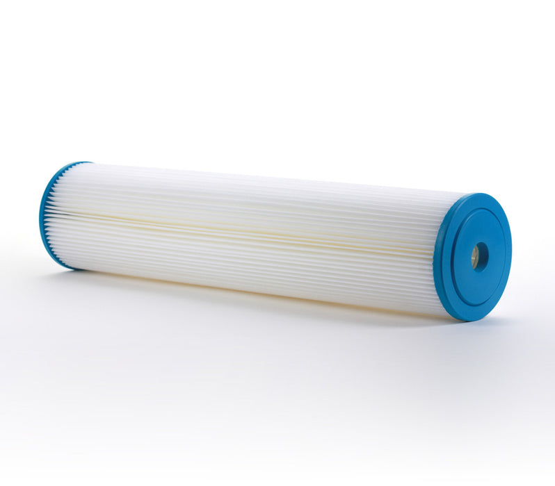 "Pleated Sediment Water Filter Home or Commercial, Reusable 4.5"" x 20"" - 5 Micron - iFilters"