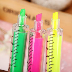 6 Pcs / Lot Cute Novelty Nurse Needle Syringe Highlighter Marker