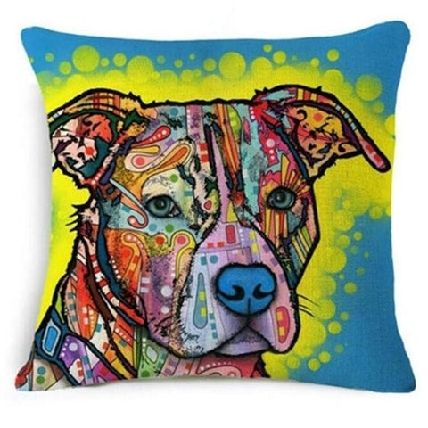 Cushion Cover - Dog Multi-Color Decorative Pillow Cover