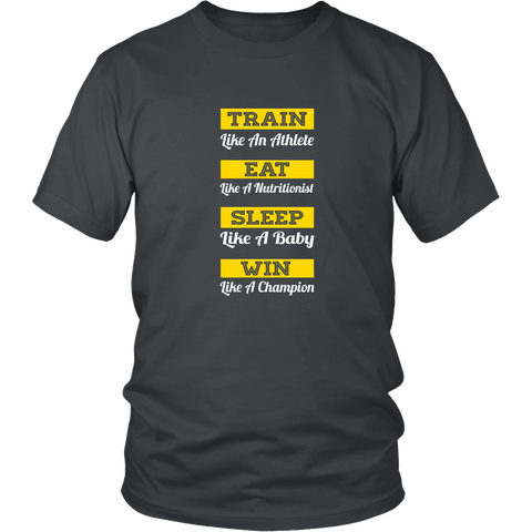 TRAIN EAT SLEEP WIN Men's Shirt - Train Eat Sleep Win - Men's Shirt