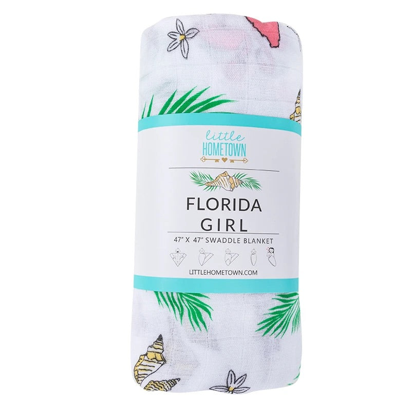 Florida Girl Swaddle - Lily Pad