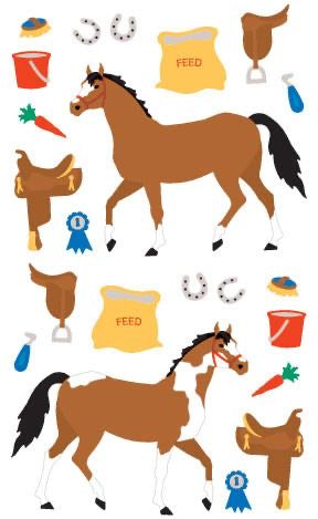 Mrs. Grossmans Horse Tack Sticker Sheet - Lily Pad