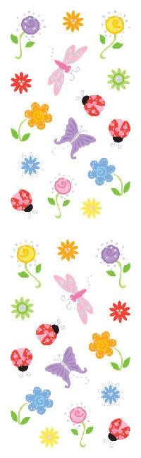 Mrs. Grossmans Flowers, Petite, Sticker Sheet - Lily Pad