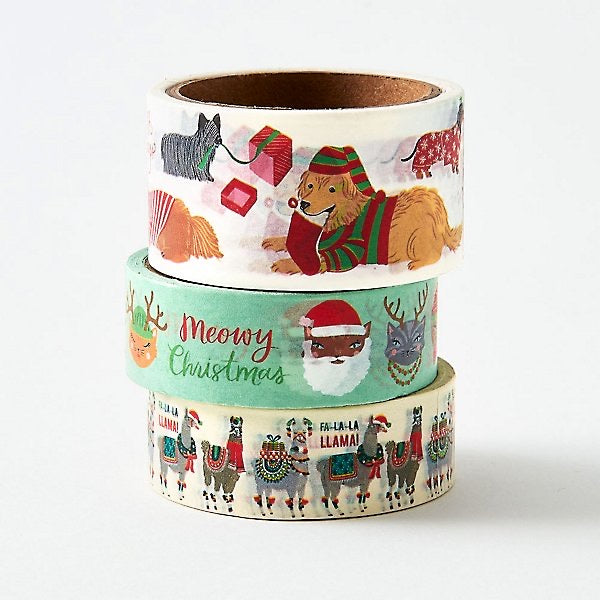Christmas Critters Washi Tape Set - Lily Pad