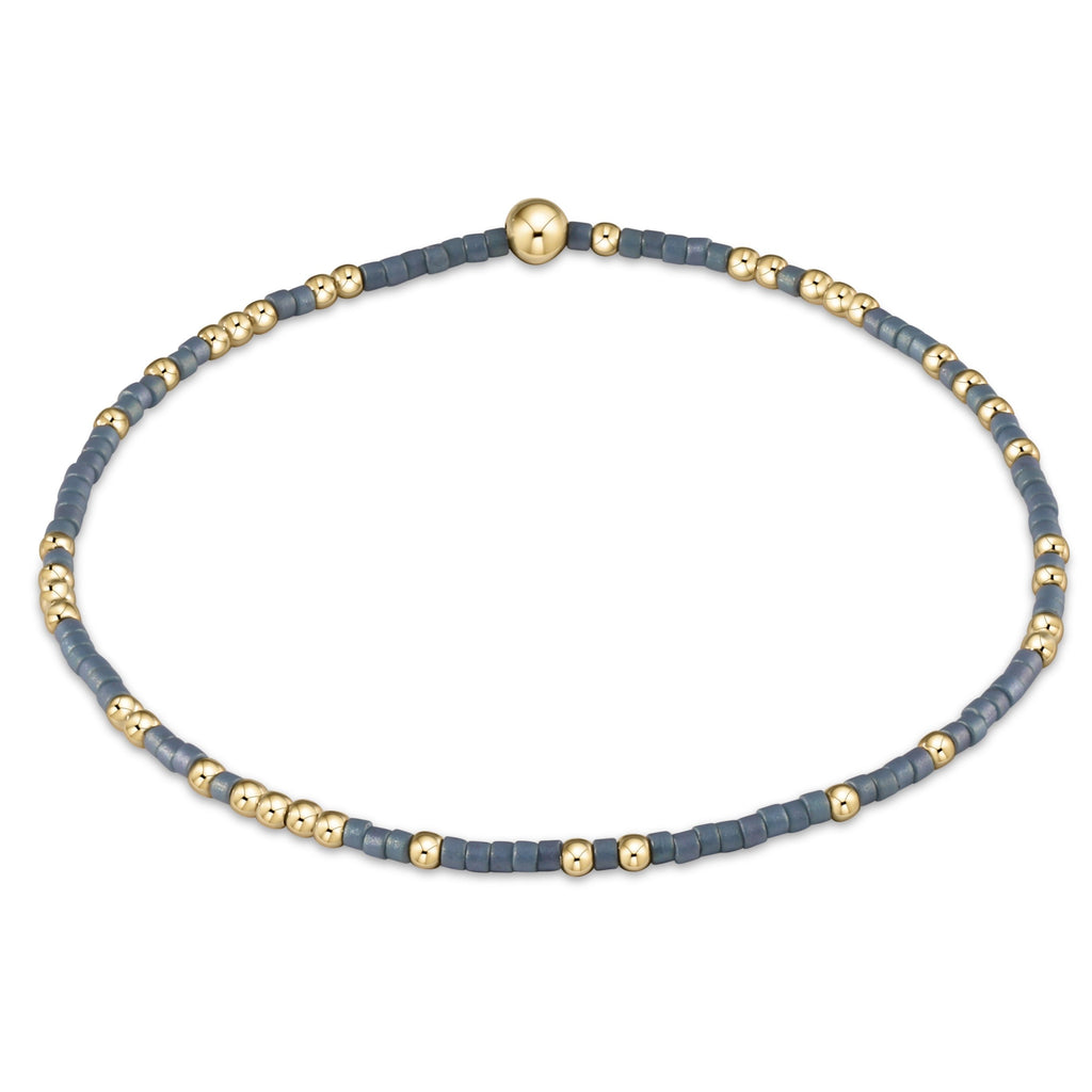 Hope Unwritten Bracelet - Dusty Blue - Lily Pad
