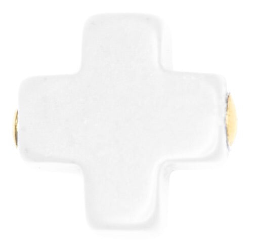 enewton design Signature Cross Stud Earrings - Lily Pad