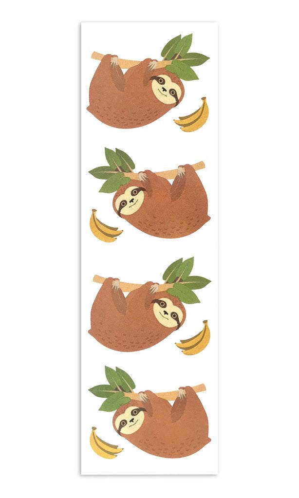 Mrs. Grossmans Cheerful Sloths, Sticker Sheet - Lily Pad