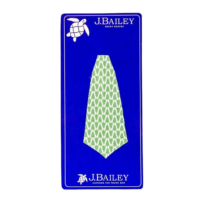 J. Bailey Long Tie, Green Trees - Lily Pad
