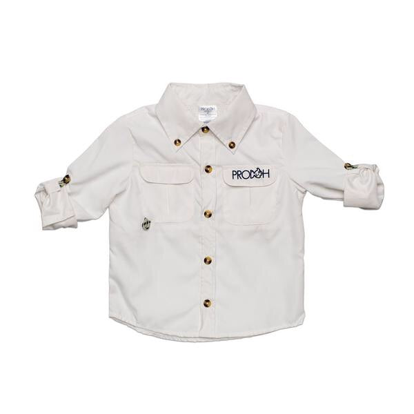 Prodoh White Classic Fishing Shirt - Lily Pad