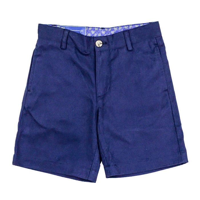 J Bailey Pete Twill Short, Navy - Lily Pad