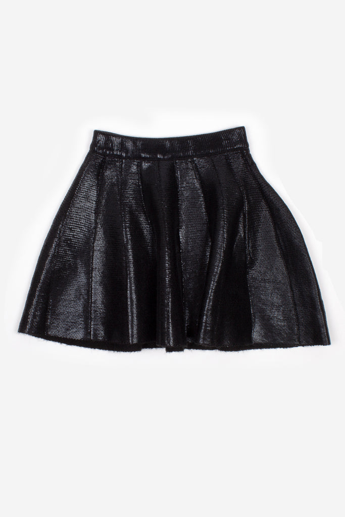 Nev & Lizzie Black metallic knit skirt - Lily Pad