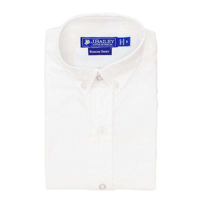 J. Bailey Roscoe Oxford Button Down Shirt, White - Lily Pad