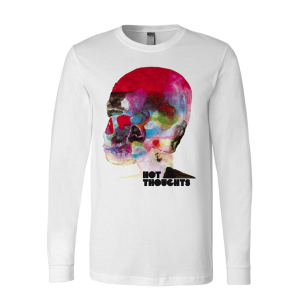 HOT THOUGHTS WHITE LONG SLEEVE T-SHIRT