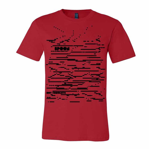 HOT THOUGHTS LINES RED T-SHIRT